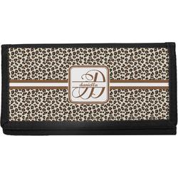 Leopard Print Canvas Checkbook Cover (Personalized)