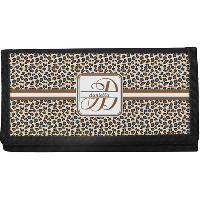 Leopard Print Canvas Checkbook Cover (Personalized)