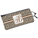 Leopard Print Genuine Leather Eyeglass Case (Personalized)