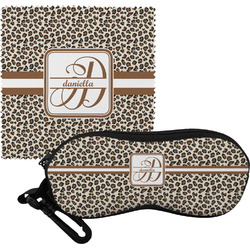 Leopard Print Eyeglass Case & Cloth (Personalized)
