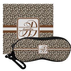 Leopard Print Eyeglass Case & Cloth (Personalized)