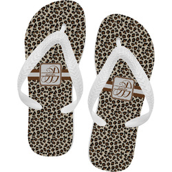 Leopard Print Flip Flops (Personalized)