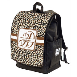 Leopard Print Backpack w/ Front Flap  (Personalized)