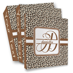 Leopard Print 3 Ring Binder - Full Wrap (Personalized)