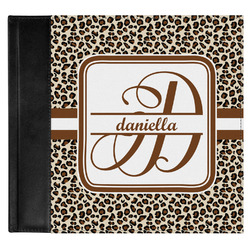 Leopard Print Genuine Leather Baby Memory Book (Personalized)