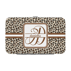 Leopard Print Genuine Leather Small Framed Wallet (Personalized)