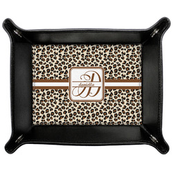 Leopard Print Genuine Leather Valet Tray (Personalized)