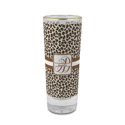 Leopard Print 2 oz Shot Glass - Glass with Gold Rim (Personalized)