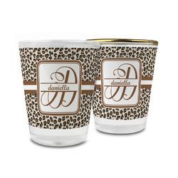 Leopard Print Glass Shot Glass - 1.5 oz (Personalized)