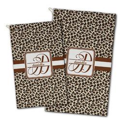 Leopard Print Golf Towel - Full Print w/ Name and Initial
