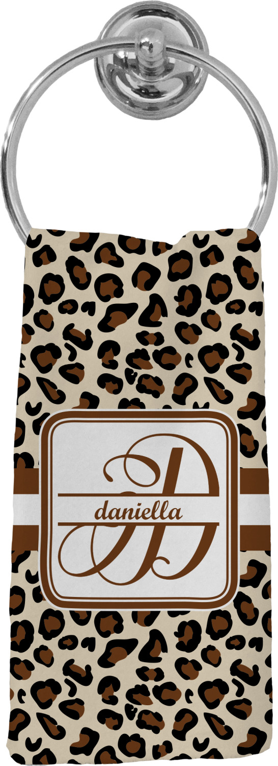 Leopard Print Hand Towel Full Personalized