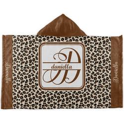 Leopard Print Kids Hooded Towel (Personalized)