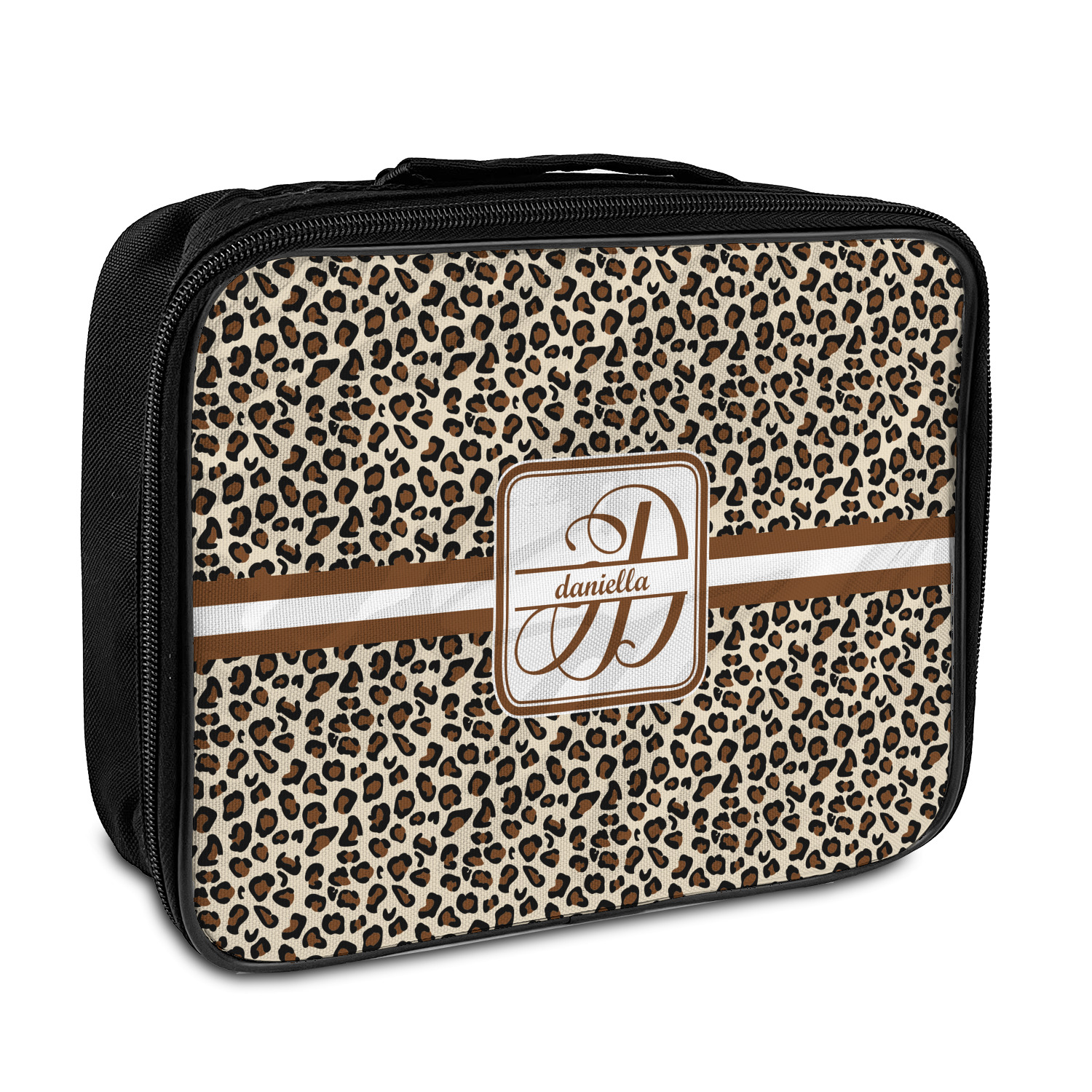 Leopard Print Insulated Lunch Bag Personalized