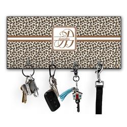Leopard Print Key Hanger w/ 4 Hooks (Personalized)