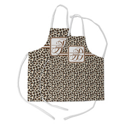 Leopard Print Kid's Apron w/ Name and Initial
