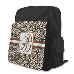 Leopard Print Kid's Backpack with Customizable Flap (Personalized)