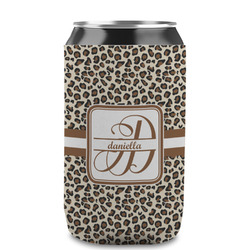 Leopard Print Can Sleeve (12 oz) (Personalized)