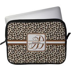"Leopard Print Laptop Sleeve / Case - 15"" (Personalized)"