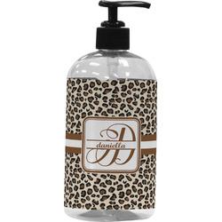 Leopard Print Plastic Soap / Lotion Dispenser (16 oz - Large) (Personalized)