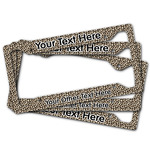 Leopard Print License Plate Frame (Personalized)