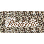 Leopard Print Front License Plate (Personalized)
