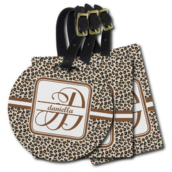 Leopard Print Plastic Luggage Tags (Personalized)