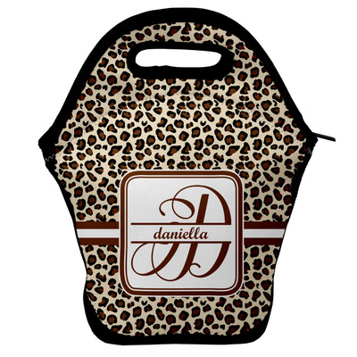 Leopard Print Lunch Bag w/ Name and Initial