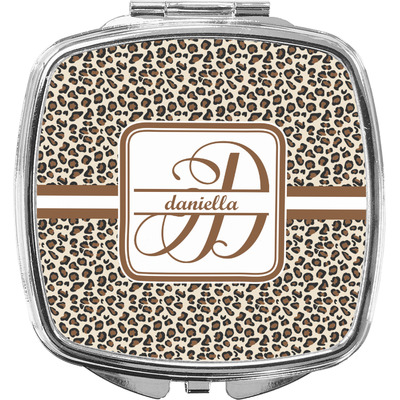Leopard Print Compact Makeup Mirror (Personalized)