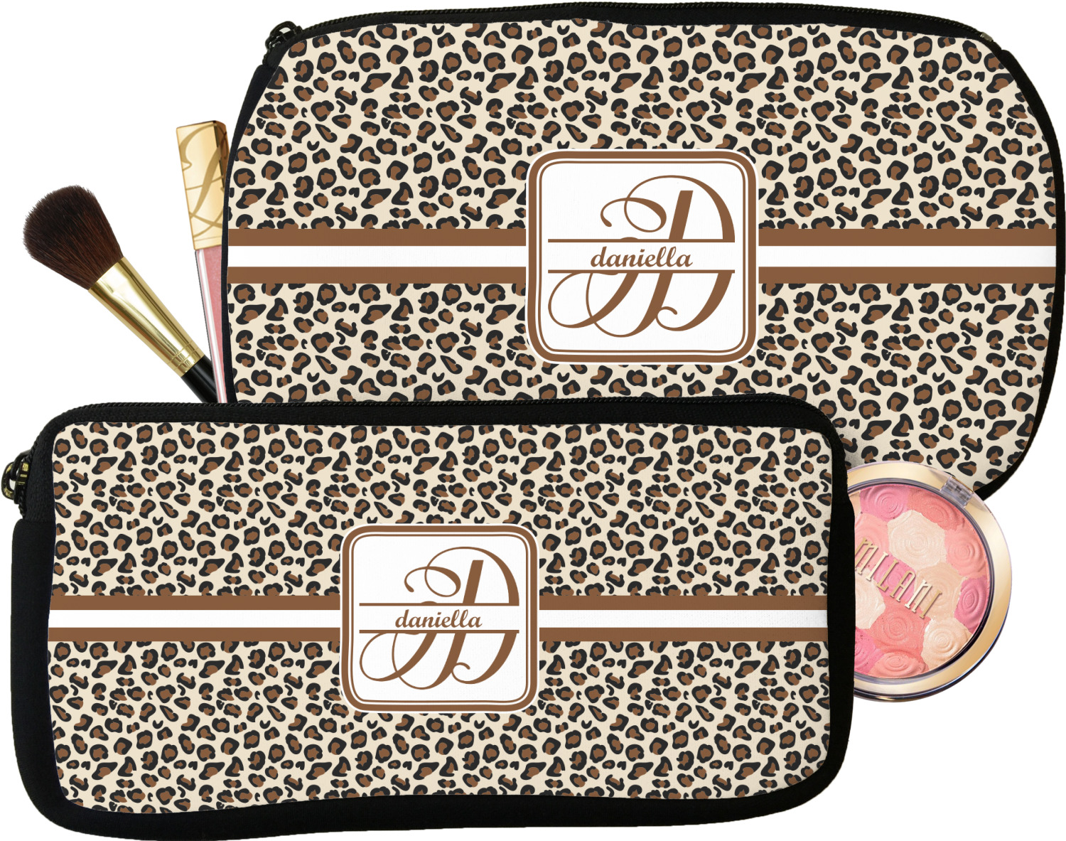 daeaa6c852a1 Leopard Print Makeup   Cosmetic Bag (Personalized) - YouCustomizeIt