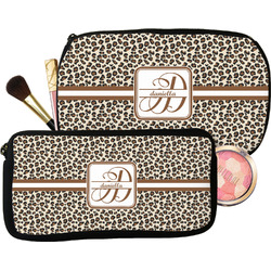 Leopard Print Makeup / Cosmetic Bag (Personalized)