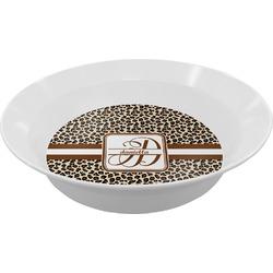 Leopard Print Melamine Bowl (Personalized)