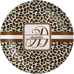 Leopard Print Melamine Plate (Personalized)