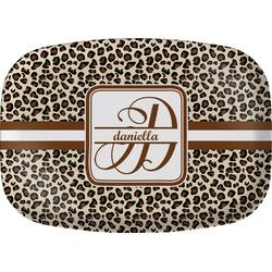Leopard Print Melamine Platter (Personalized)