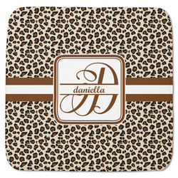 "Leopard Print Memory Foam Bath Mat - 48""x48"" (Personalized)"