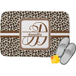 Leopard Print Memory Foam Bath Mat (Personalized)