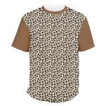 Leopard Print Men's Crew T-Shirt (Personalized)