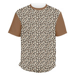 Leopard Print Men's Crew T-Shirt (Personalized)