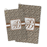 Leopard Print Microfiber Golf Towel (Personalized)