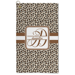 Leopard Print Microfiber Golf Towel - Large (Personalized)