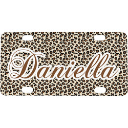 Leopard Print Mini / Bicycle License Plate (Personalized)