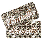 Leopard Print Mini/Bicycle License Plates (Personalized)