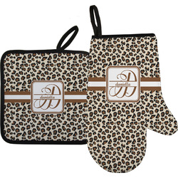 Leopard Print Oven Mitt & Pot Holder (Personalized)