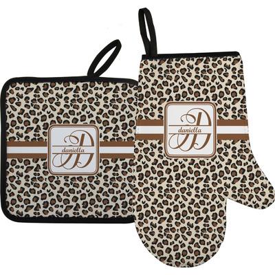 Leopard Print Oven Mitt & Pot Holder (Personalized)