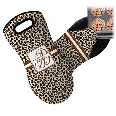 Leopard Print Neoprene Oven Mitt (Personalized)