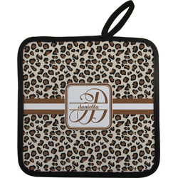 Leopard Print Pot Holder w/ Name and Initial
