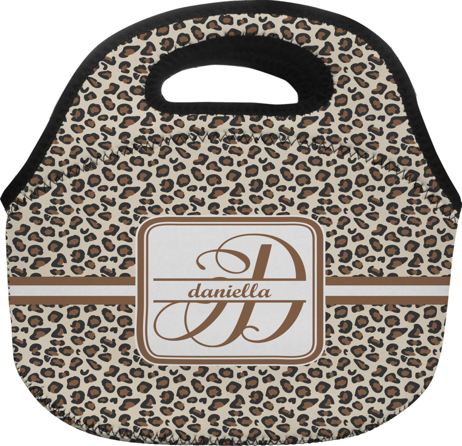 Leopard Print Lunch Bag Personalized