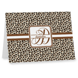 Leopard Print Note cards (Personalized)