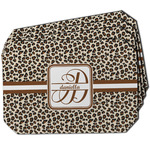 Leopard Print Dining Table Mat - Octagon w/ Name and Initial