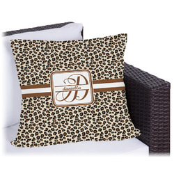 """Leopard Print Outdoor Pillow - 26"""" (Personalized)"""