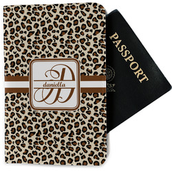 Leopard Print Passport Holder - Fabric (Personalized)